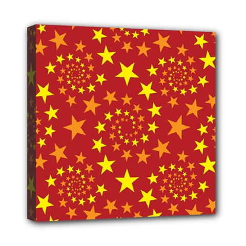 Star Stars Pattern Design Mini Canvas 8  X 8  by Nexatart