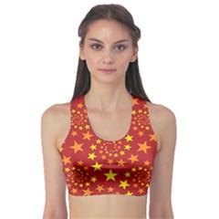 Star Stars Pattern Design Sports Bra