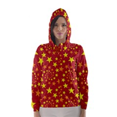 Star Stars Pattern Design Hooded Wind Breaker (women)