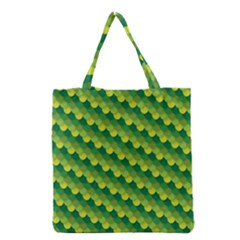 Dragon Scale Scales Pattern Grocery Tote Bag by Nexatart