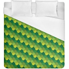 Dragon Scale Scales Pattern Duvet Cover (king Size) by Nexatart