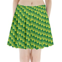 Dragon Scale Scales Pattern Pleated Mini Skirt