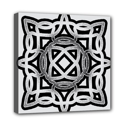 Celtic Draw Drawing Hand Draw Mini Canvas 8  X 8  by Nexatart