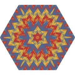 Aztec Traditional Ethnic Pattern Mini Folding Umbrellas by Nexatart