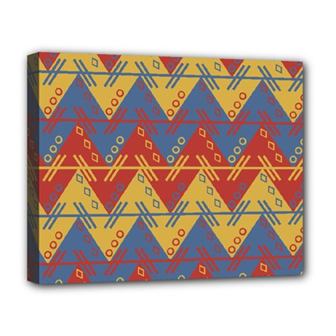 Aztec Traditional Ethnic Pattern Deluxe Canvas 20  X 16   by Nexatart