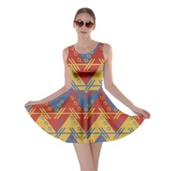 Aztec Traditional Ethnic Pattern Skater Dress
