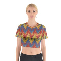 Aztec Traditional Ethnic Pattern Cotton Crop Top
