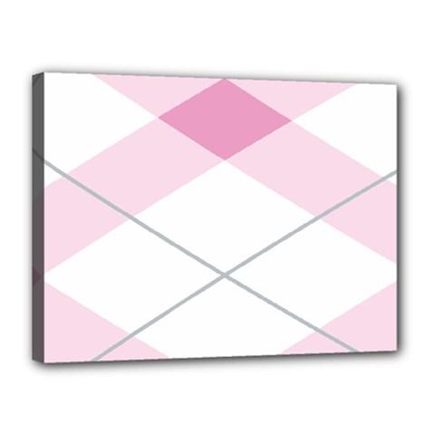 Tablecloth Stripes Diamonds Pink Canvas 16  X 12