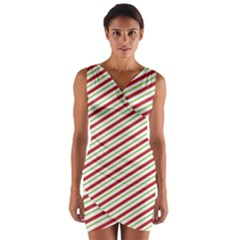 Stripes Striped Design Pattern Wrap Front Bodycon Dress