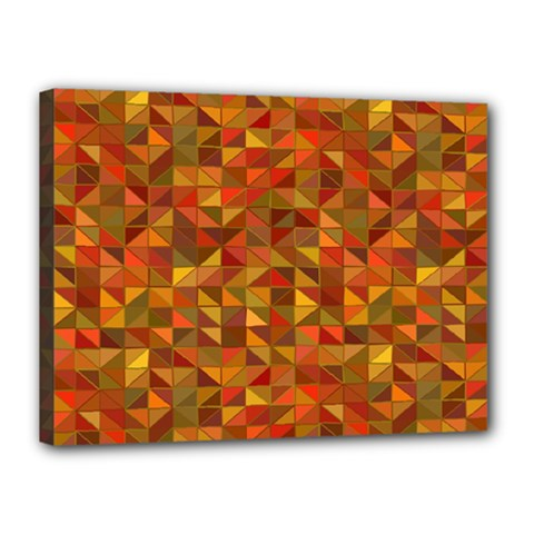 Gold Mosaic Background Pattern Canvas 16  X 12  by Nexatart