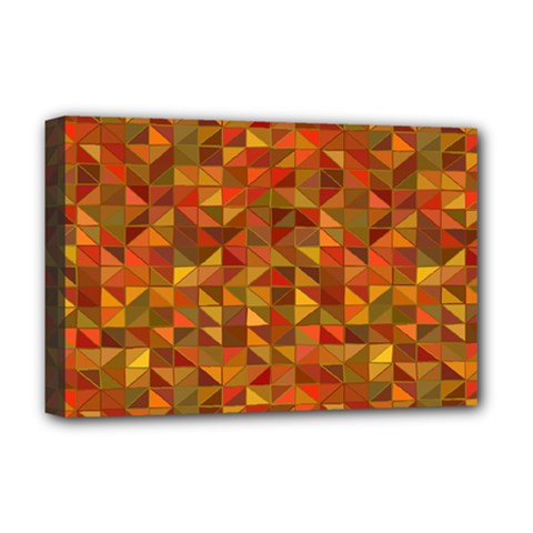 Gold Mosaic Background Pattern Deluxe Canvas 18  X 12   by Nexatart