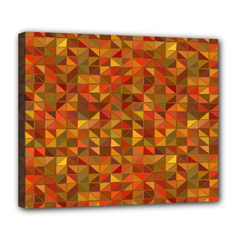Gold Mosaic Background Pattern Deluxe Canvas 24  X 20   by Nexatart