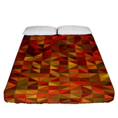 Gold Mosaic Background Pattern Fitted Sheet (queen Size)