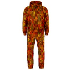 Gold Mosaic Background Pattern Hooded Jumpsuit (men)  by Nexatart