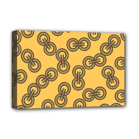 Abstract Shapes Links Design Deluxe Canvas 18  X 12