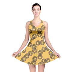Abstract Shapes Links Design Reversible Skater Dress