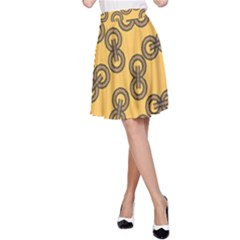 Abstract Shapes Links Design A Line Skirt by Nexatart