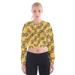 Abstract Shapes Links Design Cropped Sweatshirt