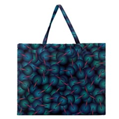 Background Abstract Textile Design Zipper Large Tote Bag by Nexatart