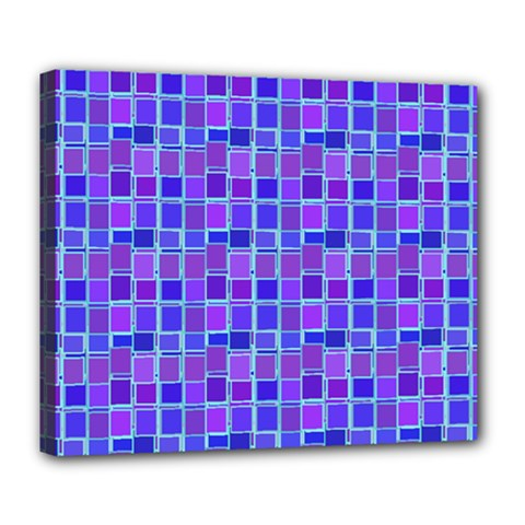Background Mosaic Purple Blue Deluxe Canvas 24  X 20