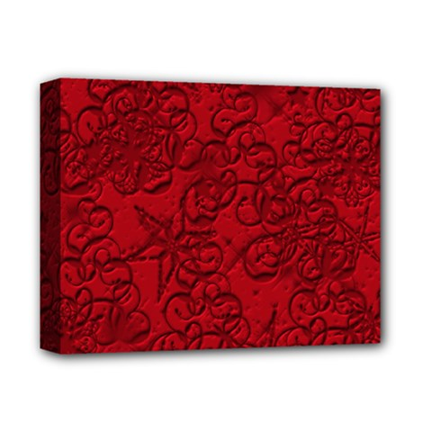 Christmas Background Red Star Deluxe Canvas 14  X 11  by Nexatart