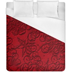 Christmas Background Red Star Duvet Cover (california King Size)