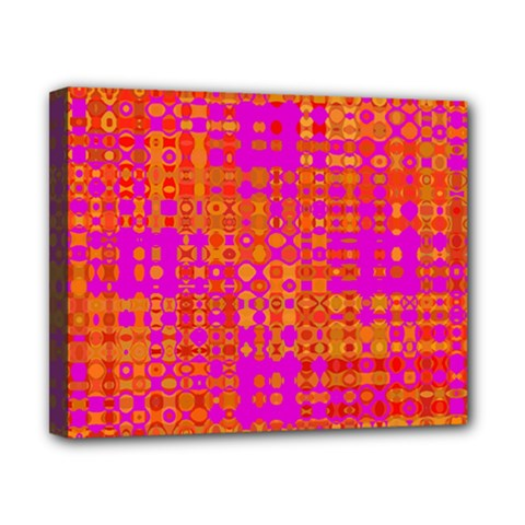 Pink Orange Bright Abstract Canvas 10  X 8
