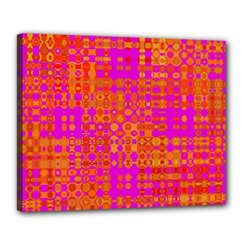 Pink Orange Bright Abstract Canvas 20  X 16  by Nexatart