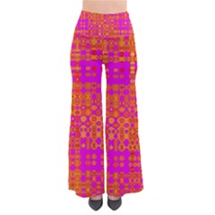 Pink Orange Bright Abstract Pants by Nexatart