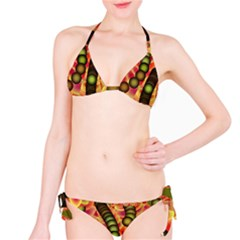Abstract Background Digital Green Bikini Set