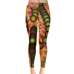 Abstract Background Digital Green Leggings  by Nexatart