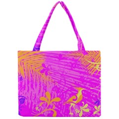 Spring Tropical Floral Palm Bird Mini Tote Bag