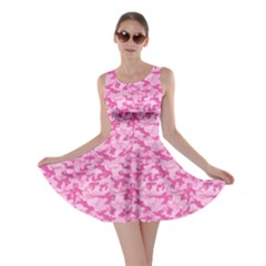 Shocking Pink Camouflage Pattern Skater Dress by tarastyle