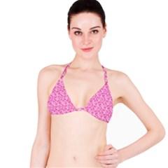 Shocking Pink Camouflage Pattern Bikini Top