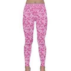Shocking Pink Camouflage Pattern Classic Yoga Leggings