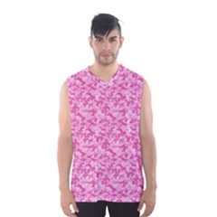 Shocking Pink Camouflage Pattern Men s Basketball Tank Top