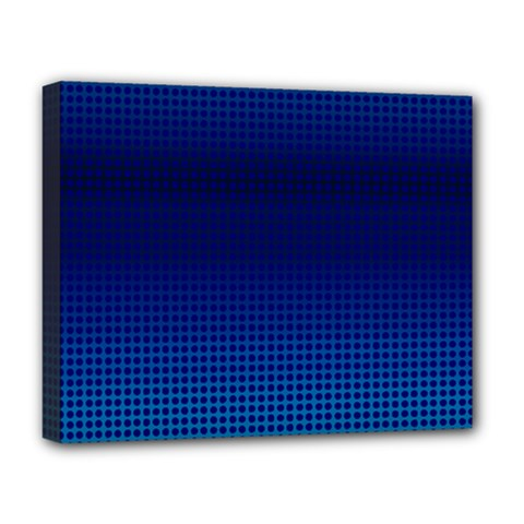 Blue Dot Deluxe Canvas 20  X 16   by PhotoNOLA