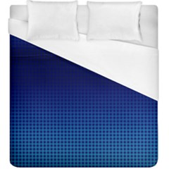 Blue Dot Duvet Cover (king Size) by PhotoNOLA