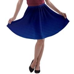 Blue Dot A Line Skater Skirt by PhotoNOLA