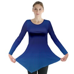 Blue Dot Long Sleeve Tunic  by PhotoNOLA