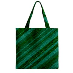 Stripes Course Texture Background Zipper Grocery Tote Bag by Nexatart