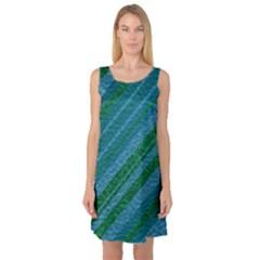 Stripes Course Texture Background Sleeveless Satin Nightdress