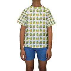 St Patrick S Day Background Symbols Kids  Short Sleeve Swimwear