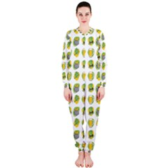 St Patrick S Day Background Symbols OnePiece Jumpsuit (Ladies)