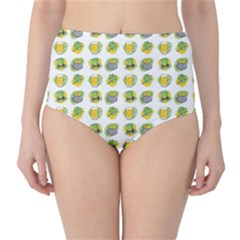 St Patrick S Day Background Symbols High Waist Bikini Bottoms
