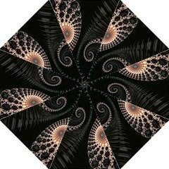 Fractal Black Pearl Abstract Art Straight Umbrellas by Nexatart