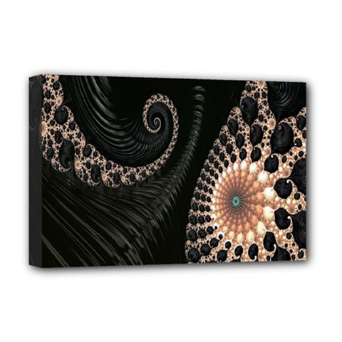 Fractal Black Pearl Abstract Art Deluxe Canvas 18  X 12   by Nexatart