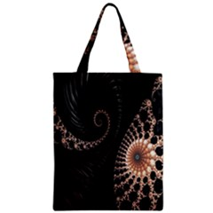 Fractal Black Pearl Abstract Art Zipper Classic Tote Bag