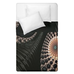Fractal Black Pearl Abstract Art Duvet Cover Double Side (single Size)
