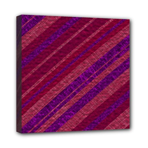 Stripes Course Texture Background Mini Canvas 8  X 8  by Nexatart